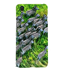 Fuson Designer Back Case Cover for OnePlus X :: One Plus X (Zeal Of Zebras Zebra Group Striped Zebras Forest)