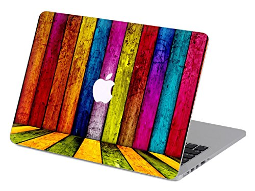 Woodgrain-snap (kikhorse Wasserfarbe Kollektion Hochwertige Hartschale Ultra Dünn Snap Case Schutzhülle Für New MacBook Air 13 Zoll Retina (2019/2018, Touch ID) (Modell: A1932) (Vintage Retro Woodgrain))