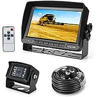 """Rückfahrkamera 18 IR LED Wasserdicht Rückfahrsystem Kamera + 7"""" TFT LCD KFZ Monitor ( Zwei Halterungen)"""
