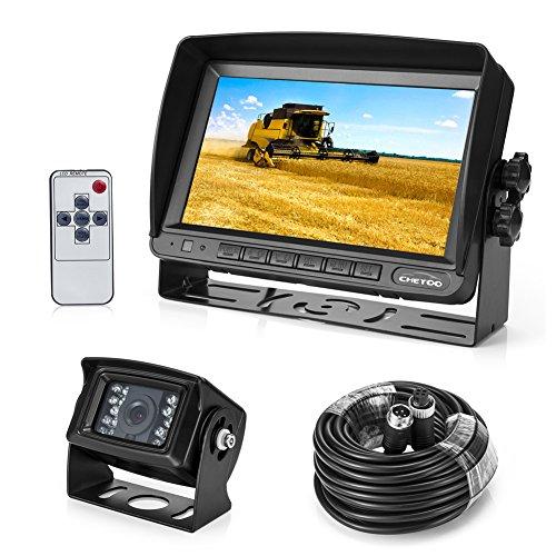 Rückfahrkamera 18 IR LED Wasserdicht Rückfahrsystem Kamera + 7' TFT LCD KFZ Monitor ( Zwei Halterungen)