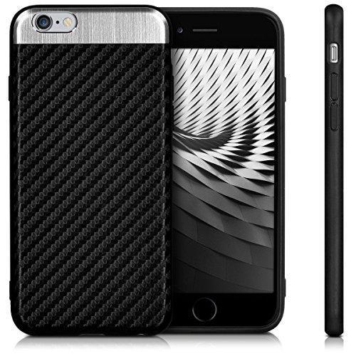 kwmobile Étui en TPU silicone élégant pour Apple iPhone 6 / 6S en rose ancien mat noir argenté