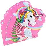 Gazechimp 10x Tarjeta de Invitación de Unicornio Mágico Proveedor Fiesta Cumpleaños Niños Regalo Decoración