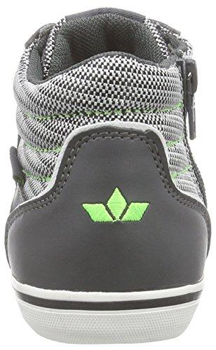 Lico Bronco Jungen Hohe Sneakers Grau (grau/weiss/lemon)
