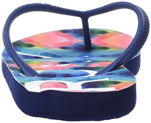 Roxy Damen Playa Zehentrenner Multicolore (BLUE/WHITE PRINT)