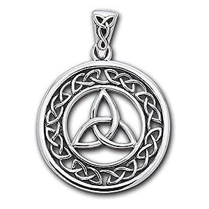 Alterras – Anhänger: Keltische Muster, rund aus 925-Silber