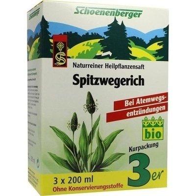 Schoenenberger Heilpflanzensäfte SPITZWEGERICH Saft 3x 200ml