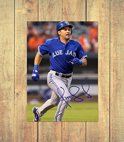 Blue Jay-check (Omar Vizquel - Toronto Blue Jays - MLB 1 - High Gloss Printed Poster - A4 (210 x 297 mm) Personalised)