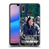 Head Case Designs Offizielle AMC The Walking Dead Fahrradfahrt Daryl Dixon Soft Gel Hülle für Huawei P20 Lite