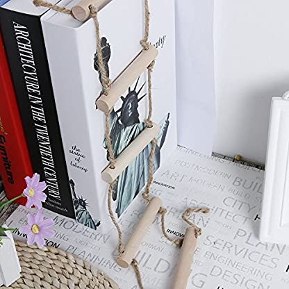 2 Pcs Small Parrot Rat Toy Bridge Ladder Hamster Bird Cage Accessories Wood Color by GOOTRADES 5