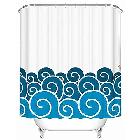 TXXM Cartoon Sea Waves Pattern Thicker wasserdicht und Schimmel Bad Vorhänge Bad Zubehör Creative Duschvorhänge Duschvorhänge ( größe : 180*180cm (Thickers Letters)