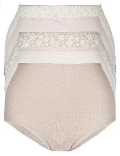 fa-m-ou-s-store-ladies-womens-3-pack-cotton-rich-full-briefs-knickers-16-beige-spots-4222-ll-0404