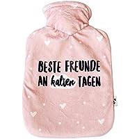 Odernichtoderdoch Wärmflasche | Beste Freunde an kalten Tagen | rosa Bezug preisvergleich bei billige-tabletten.eu