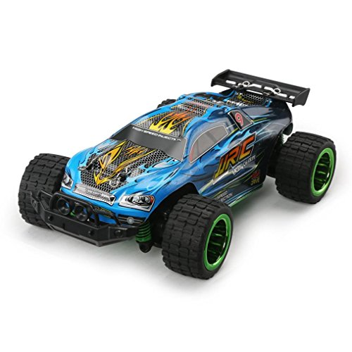 Wokee Remote Control Racer, JJRC Q36 RC Auto Monstertruck, 1:26 30 + km / h Mini Gebürstet Offroad RC Monster Truck Car- RTR,Ferngesteuertes Auto, HIgh Speed Geländefahrzeug (Schwarz) - Scale 1 Auto 15 Rc