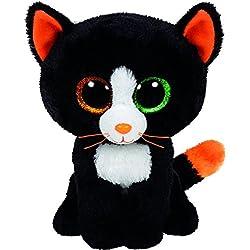 TY - Frights, gato de peluche, 15 cm, color negro (41121TY)