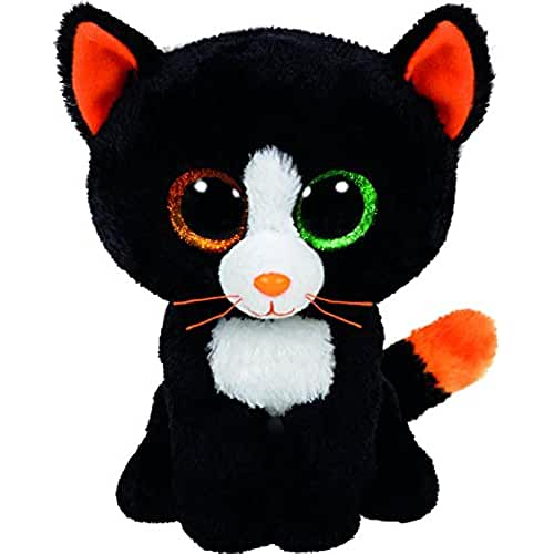 peluches TY - Frights, gato de peluche, 15 cm, color negro (41121TY)