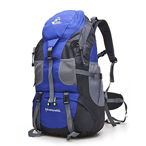 fa9a73a715 Magic Vida Zaini da Escursionismo Uomo Donna Zaino da Trekking Borsa da  Viaggio Multifunzione Outdoor Trekking Montagna Campeggio 50 L (Blu)