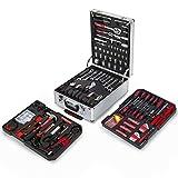 Greencut TOOLS-416 - Set de herramientas (416 piezas), maletín de aluminio con ruedas,...