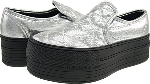 Maxstar  C50-Stitch,  Damen Sneaker Low-Tops TC-Silver