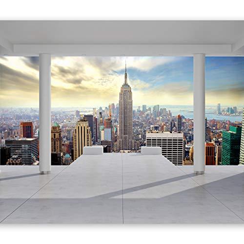 murando Papier peint intissé 350x256 cm Décoration Murale XXL Poster Tableaux Muraux Tapisserie Photo Trompe l'oeil Ville New York architecture 10110904-35