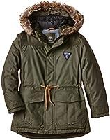 Timberland Boy's PARKA A CAPUCHE Plain Hooded Long Sleeve Jacket