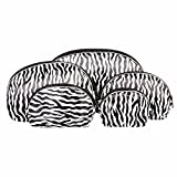 Blue Banana 5-teiliges Zebra Print Makeup Taschen Set