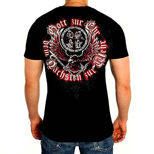 Gott ZUR EHR - DEM NÄCHSTEN ZUR WEHR Feuerwehr Männer T-Shirt, Größenauswahl:L