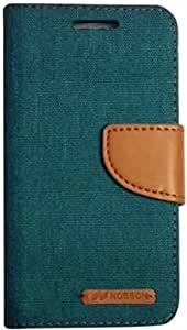 Shopsji Nosson Green Flip cover for One Plus Three