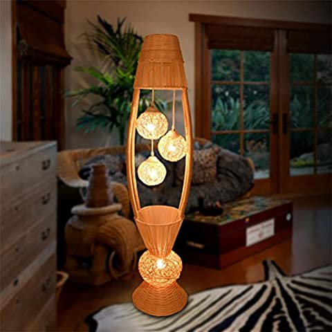 FYN Floor Lamps Led Vertical Chinese Style Bedroom Bamboo Arts Modern Simple Fashion Living Room Eye Protection Home Improvement Llighting Bedside Table