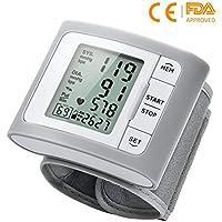 Mpow Tensiómetro de Muñeca, Monitor de Presión Arterial Alta Presión, Gran Pantalla LCD 60 Grupos de Datos, Certificado CE para Uso Domestico y Medico