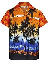 299e25581 Mens Hawaiian Shirt Short Sleeve STAG Beach Holiday Palm Tree Fancy Dress  Hawaii - All Sizes