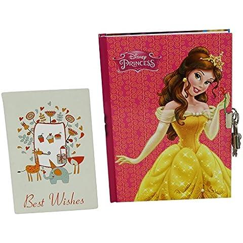 Disney Princesas Bella et Enredados Agenda Cuaderno Diario Secreto