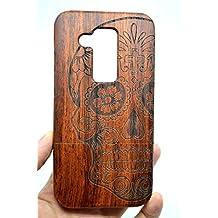 RoseFlower® Huawei Ascend Mate 8 Funda de Madera - Cráneo de madera rosa - Natural Hecha a mano de Bambú / Madera Carcasa Case Cover con GRATIS Protector de Pantalla para tu Smartphone