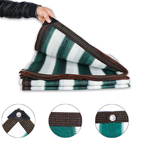 85% Sonnenschutznetz, Lightweight Sun Mesh-Abdeckung Für Pergola-Überdachung, Kantenstanzung, Grünes Zebra (Size : 5x8m) - 5 X 8 Zebra