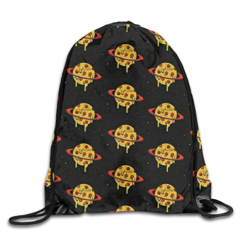 Naiyin Funny Pizza Planet Drawstring Backpack Bag Rucksack Shoulder Sackpack Sport Gym Yoga Runner Beach Hiking Dance -
