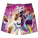 Fanient Boys Estate Surf Costumi da Bagno 3D Graphic Beach Boxer Shorts Costumi da Bagno Swimwear