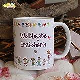 Kaffeebecher ~ Tasse - Weltbeste Erzieherin ~ Kindergarten ~ Abschied ~ Weihnachten Geschenk
