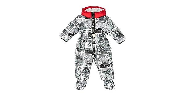 GULLIVER Baby Overall Winter Baby Schneenazug M/ädchen Baby Grau gef/üttert mit Fell Kapuze 86 92 cm