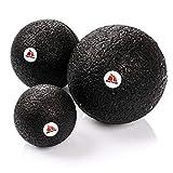 meteor® Black Series Faszienball- Selbstmassage mit doppeltem Effekt auf die Gesundheit, Elgant Schwarz Massagegeräte, in DREI Größen