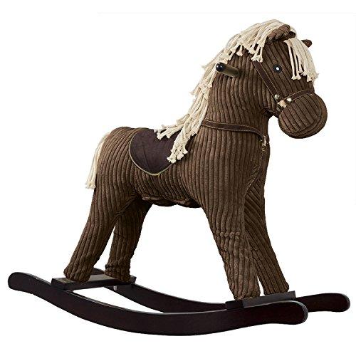 Schaukelpferd für Kinder ab 18 Monate - Schaukelspielzeug Pferd Braun