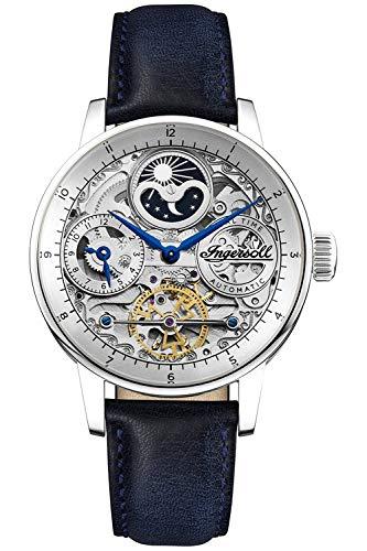 Ingersoll The Jazz Reloj para Hombre Analógico de Automático con Brazalete de Piel de Vaca I07702