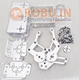 #8: Full Set DIY 3DOF Robot Arm Manipulator Claw +2pcs Servo Brackets+Servo Horn(Not Assembly) Kit
