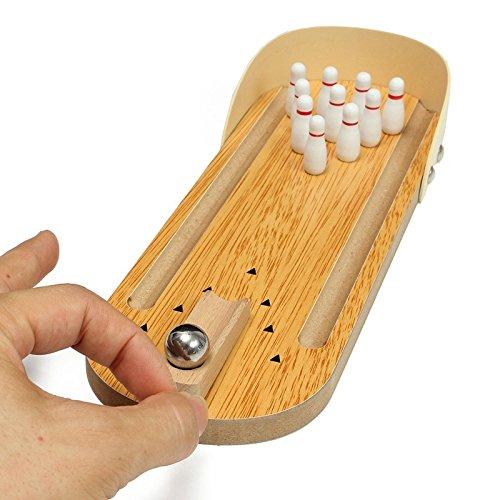 zacy-mini-entertainment-desktop-bowling-game-set-wooden-bowling-alley-ten-metal-pin-ball-desk-childr