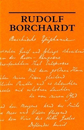 Bacchische Epiphanie (Schriften der Rudolf-Borchardt-Gesellschaft)