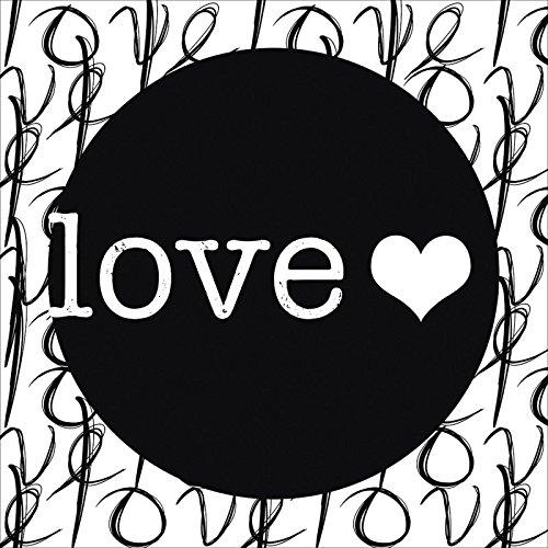 Artland Poster oder Leinwand-Bild gespannt auf Keilrahmen mit Motiv Jule Liebe II Statement Bilder Sprüche & Texte Schrift Kunst Schwarz/Weiß A7OF