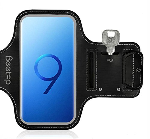 Samsung Galaxy S9 Armband, Beetop Sportarmband aus Lycra [Klettverschluss Design] Fitness Sport Armband Mit Schlüsselhalter, Kabelfach, Kartenhalter Für Samsung Galaxy S9 (5.5inch bis 6 inch)