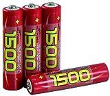 Micro-Akku NiMH 1,2V, 1500 NiMh, Typ AAA, 4er-Pack