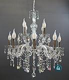 Kristall Kronleuchter 12 Leuchten Ø60cm mit Spectra Crystal von Swarovski VOLL Silber
