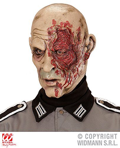 (Enter-Deal-Berlin Maske - Zombie General - , Verfilmung Untote Horrormasken Untoter Tod Skelette Monster Zombies Gesicht Masken)