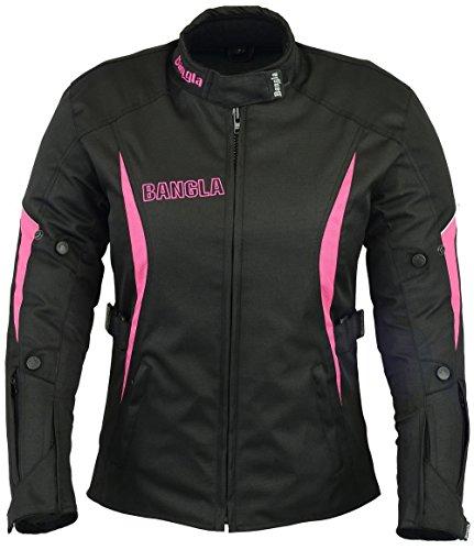 B-101 Bangla Sportliche Damen Motorrad Jacke Textil Schwarz-pink - Motorrad-jacke