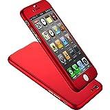 Tongshi Para iPhone 6S Plus 5.5inch,La cubierta dura de vidrio acrílico (rojo)
